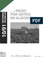 Riego Goteo Algodon