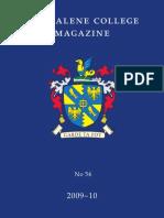 Magdalene College Cambridge, Magazine 2009-10
