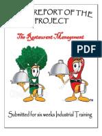 The Restaurant Management System Using .Net