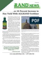 Texas rancher increase hay yield 58%