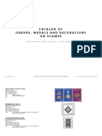 Catalogue of medals on stamps I