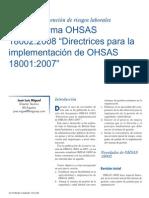 Acerca de OHSAS 18002