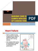 Nursing Care of Clients With Disorders of Cardiac Function (HF)