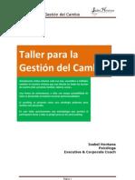 Taller Para La Gestion Del Cambio _ Autor_isabel Hontana_psicologa Coach
