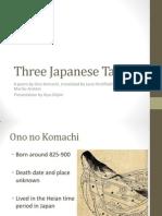 Three Japanese Tanka