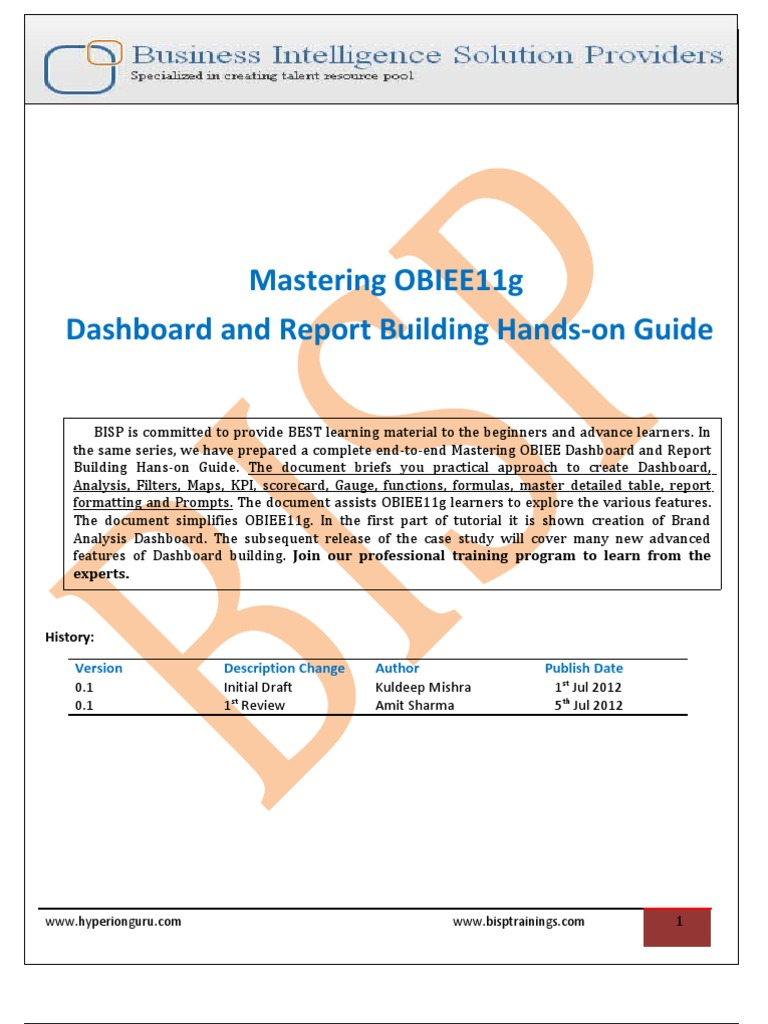 Mastering OBIEE11g Dashboard and Reporting Guide | Command Line Interface |  Parameter (Computer Programming)