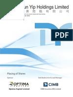 Tsun Yip Holdings prospectus