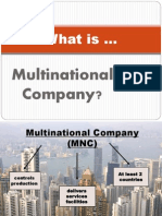Financial Accounting Framework with Multinational Company (MNC)