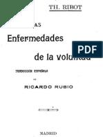25148345 Ribot Theodule Armand Las Enfermedades de La Voluntad[1]