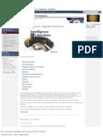 Intelligence Literature — Central Intelligence Agency