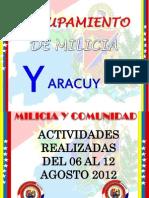 Actividades Semanales, Notas de Prensa,Guion PARTE-II 06-08-12 AL 12-08-12