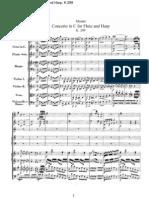 Duet - Flute and Harp - Mozart - Concerto in C, K.299 Score