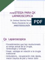 Anestesia Para Cirugia Laparoscopica