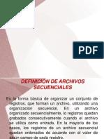 Organizacion de Archivos Secuenciales Trabajo