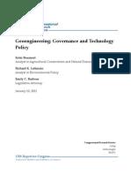 Geoengineering Governance Technology 1-10-11
