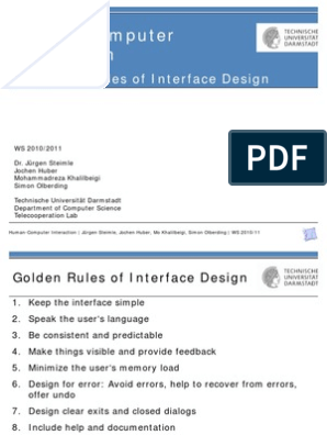 05 Goldenrules Human Computer Interaction User Interface