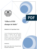 Effect of FDI Changes in India