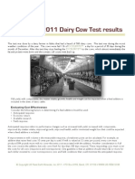 2011 Dairy Cow Test Results with Excelerite