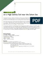 Excelerite Saline Test Barley