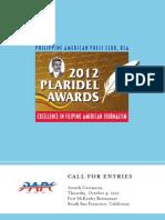 PAPC-USA 2012 Plaridel Awards - Call for Entries, Deadline Extended to September 4, 2012