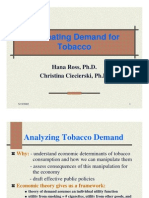 Estimating Demand for Tobacco