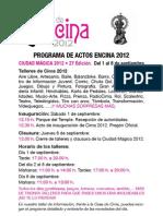Programa FIESTAS la Encina2012