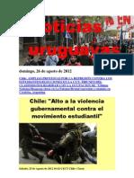 Noticias Uruguayas Domingo 26 de Agosto Del 2012