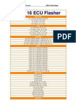 EDC 16 ECU Flasher Application Lists