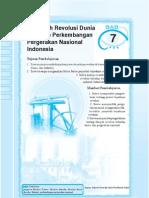7. Pengeruh Revolusi Dunia Terhadap Perkembangan Pergerakan Nasional Indonesia