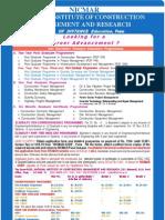 NICMAR admission broucher