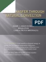 Heat Transfer Through Natural Convection