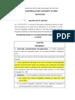 TRAI Accounting Policies 2012
