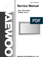 Daewoo Sp110 Chassis Dsp4210gm Plasma Tv Sm