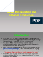 Waste Minimization and Cleaner Production