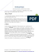 Acide quinique et Acide succinique