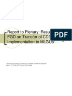 1Report on Transfer of CDD Implementation FGD 14May2012