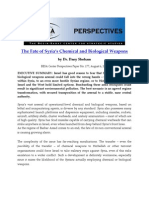 Fate of Syria's Chemical and Biological Weapons