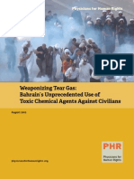 Weaponizing Tear Gas—Bahrain's Unprecedented Use of Toxic Chemical Agents Against Civilians