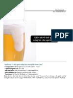 Thói quen uống bia của người Việt Nam