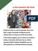 Guillermo Vilas -Los 60 años del inventor del tenis