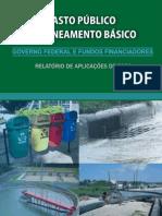 Gasto_Publico_Saneamento_2009 - Relatório de aplicações