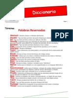 Diccionario de datos términos