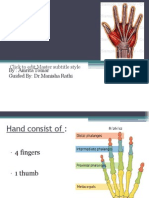 Biomechanics & Pathomechanics of Hand