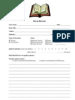 Book Report Form