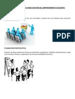 Fases Del Emprendimiento Solidario