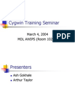 Cygwin Training Seminar