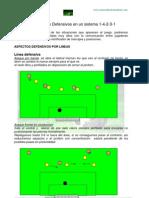 Fundamentos Defensivos Para Un Sistema 1-4-2-3-1