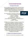 Tipos de Investigacion