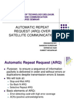 Automatic repeat request (ARQ) over Satellite Communication
