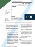 NBR 06489 - Prova de Carga Direta Sobre Terreno de Fundacao